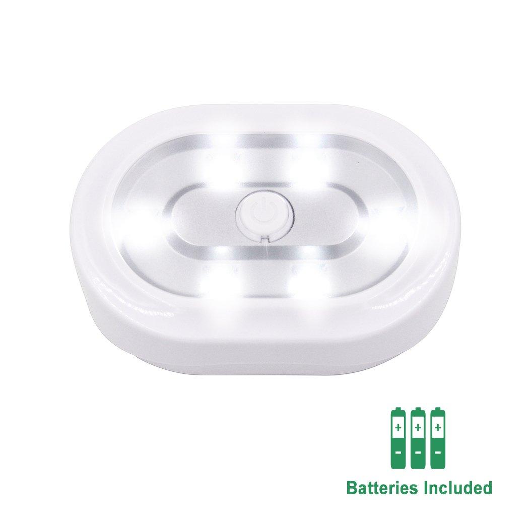 Lampes Veilleuse de Nuit LED Sans Fil a Pile avec T/él/écommande et Fonction de Minuterie 3 Lampes et 1 Telecommande de Enuotek Luminosite Dimmable Blanc Froid 6000K