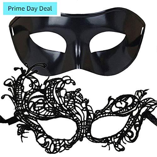 IDOXE Big Sale!! Masquerade Mask for Couples Sexy Venetian Halloween Costume (Swan)]()