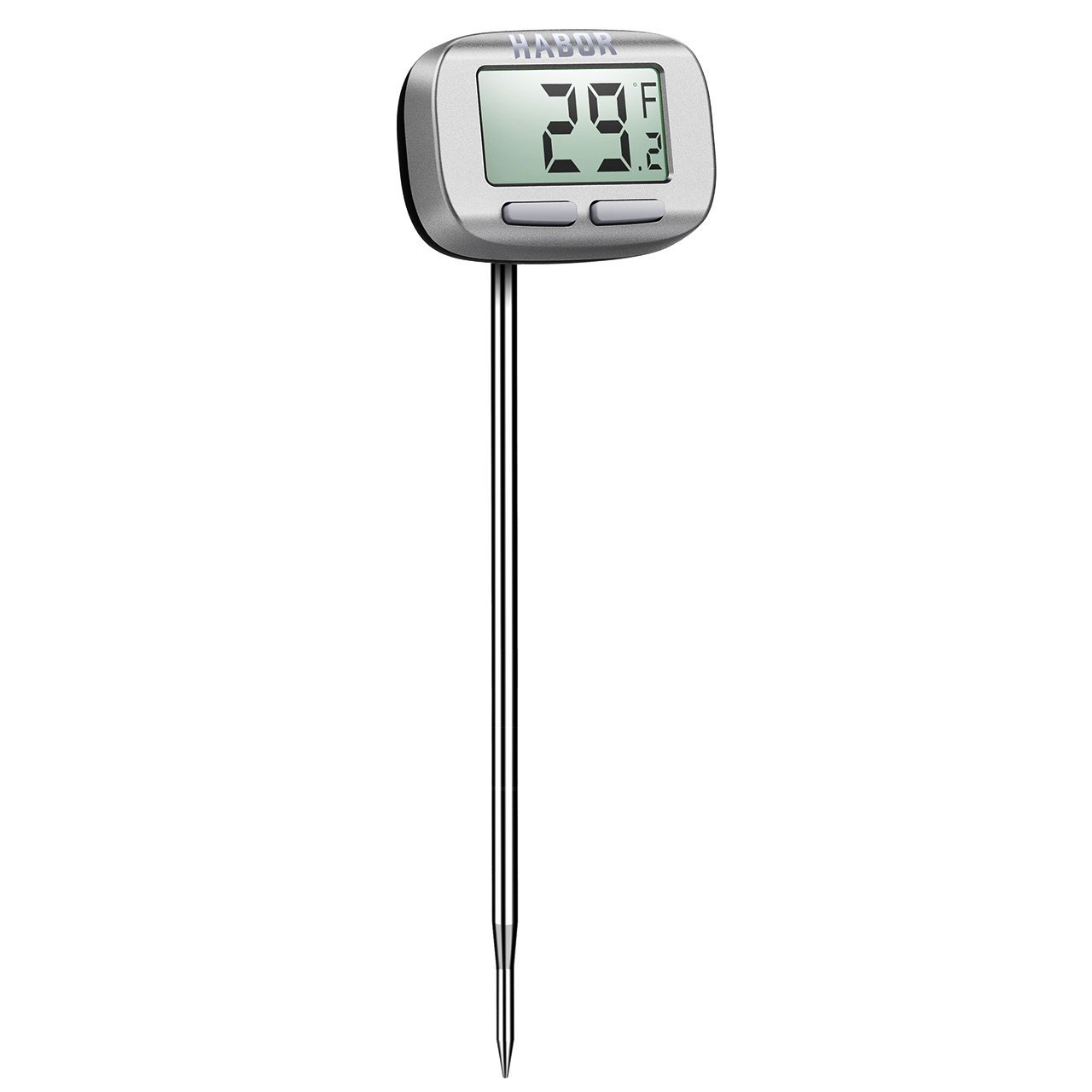 Habor CP021 Digital Cooking Meat Thermometer with Instant Read-out, Long Probe, Swiveling Head for Kitchen, BBQ, Steak, Turkey, Candy, Milk