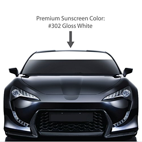 dshield Visor Sun Screens. / GLOSS WHITE / Vinyl Stripes & Decals. / Custom Made for Cars Trucks Auto Vehicles Vans Windows. / universal sunscreen stickers. / By 1060 Graphics. ()