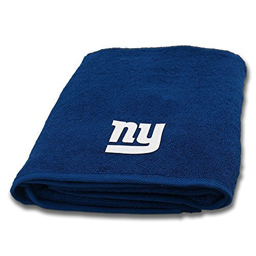 (Northwest 973 NY New York Giants NFL Bath Towel with Embroidered Applique Logo (25x50))