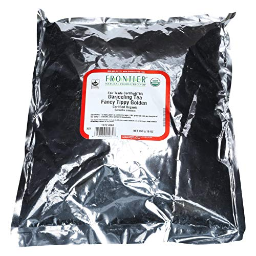 Frontier Herb Tea - Organic - Fair Trade Certified - Black - Darjeeling - Fancy Tippy Golden Flowery Orange Pekoe Grade - Bulk - 1 lb