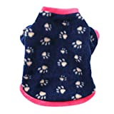 vmree Dog Apparel, Pet Dog Cat villus Warm Clothes Puppy Doggy Clothing (XS, Navy)