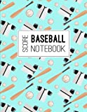 Baseball Score Notebook: Baseball Game Record Keeper Book, Baseball Score, Baseball score card has many spaces on which to record, Size 8.5 x 11 Inch, 100 Pages