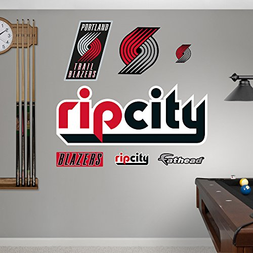 Blazers Portland Posters: NBA Portland Trail Blazers Rip City Logo Fathead Real Big