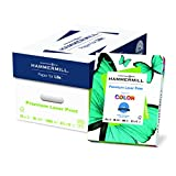 Hammermill Paper, Premium Laser Print Paper, 28lb, 8.5 x 11, Letter, 98 Bright, 4000 Sheets/8 Ream Case (125534C), Made In The USA
