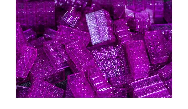 100pc Imex 2x4 Stud Purple Compatible Bricks