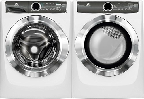 Electrolux Island White Front Load Laundry Pair with EFLS617SIW 27″ Washer and EFMG617SIW 27″ Gas Dryer