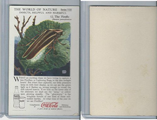 F213-3 Coca Cola, Nature Study, Insects, 1920's, 12 Firefly -