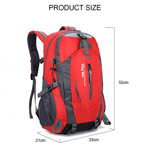 Laptop amp; Weekend For Cover Camping Hiking Rain Yoome Waterproof Travel Orange Compartment 40l Backpack Pack qzWw8tP