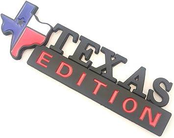 1X Texas Edition Emblem Fender Side Door State Flag Fit For SUV Pickup Truck Black