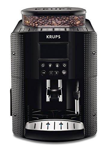 Krups EA8150 – Cafetera Automática 15 Bares de Presión, Pantalla LCD, 3 Niveles de Intensidad, Ajustable de 20 ml a 220…