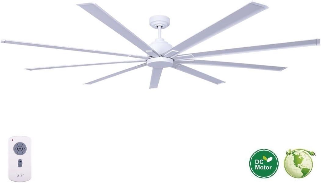 CASA BRUNO Resort DC-ventilador de techo gigante con 9 aspas, Ø 203 cm, blanco