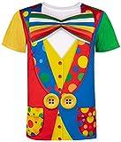 Funny World Men's Clown Costume T-Shirts (XXL, Multicoloured)