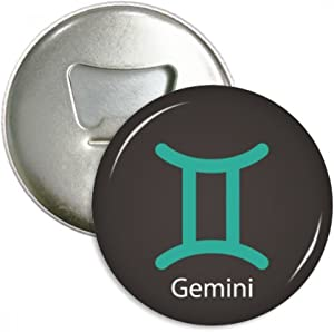 May June Gemini Constellation Bottle Opener Fridge Magnet Emblem Multifunction Badge