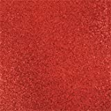 "10 Pcs 300gsm Sparkling Glitter Cardstock Scrapbooking Craft Paper for Christmas DIY Decoration, Wedding, Birthday, Monograms 12"" x 12"" (Red)"