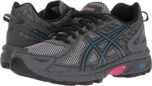 ASICS Women's Gel-Venture 6 Running-Shoes, Black/Island Blue/Pink, 8.5 B(M) US