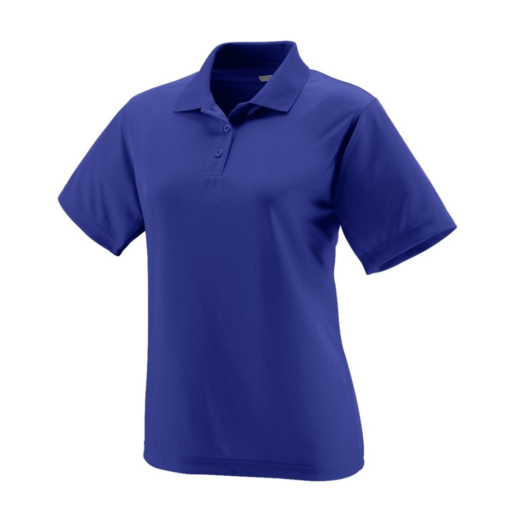 Bowlerstore Products Augusta Sportswear Ladies Wicking Mesh Sport Shirt- Style 5097 (X-Small, Purple)