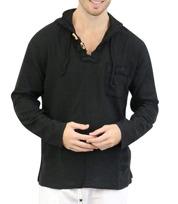 Amazon.com: Camisa blanca de algodón puro para hombre, 100 ...