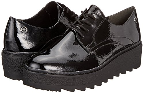 019 Black 23703 Tamaris black Oxfords Pat Women's Uni 0wAq4f