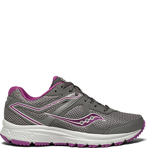 Saucony Women's Cohesion TR11 Running Shoe, Grey/Purple, 8.5 Medium US