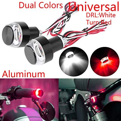 Strobe Corner - TABEN Motorcycle LED Turn Signal Light Grip Bar Plug Strobe Side Marker Handlebar End Turn Signal Corner Lights (1 Pair)