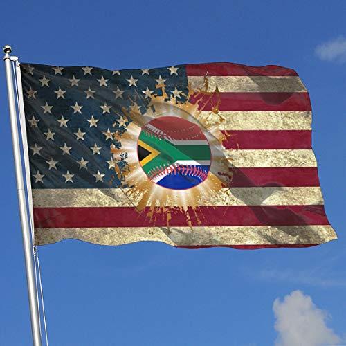 A13UDQ Outdoor Flags South African Flag Baseball Clipart USA Flag 3X5 Ft Flag for Outdoor Indoor Home Decor Sports Fan Football Basketball Baseball Hockey
