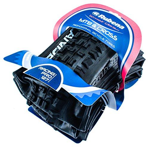 Rubena Bicycle R02 Highlander Racing Pro Folding Tire, 26 x 2.55-Inch, Black by Rubena