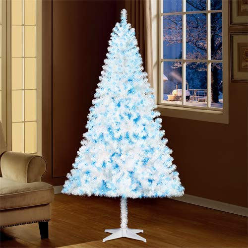 Holiday Time 6.5ft Pre-Lit Madison Pine White Christmas Tree