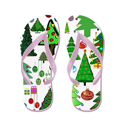 Cafepress Oh Christmas Tree - Chanclas, Sandalias Thong Divertidas, Sandalias De Playa Rosa