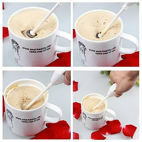 Electric Battery Egg Kitchen Coffee Handheld Milk Frothers Whisk Stirring...