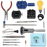 KKmoon 20 en 1 Juego de Herramientas Kit de Reparación Tool Kit Portátil de Reloj Relojería