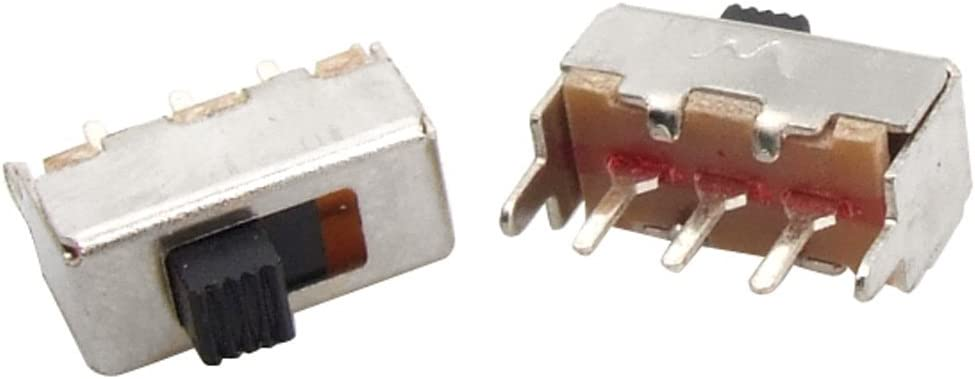 uxcell 5 Pcs SS12F44-G2 3 Pin PCB 2 Position On//On SPDT 1P2T Mini Vertical Slide Switch