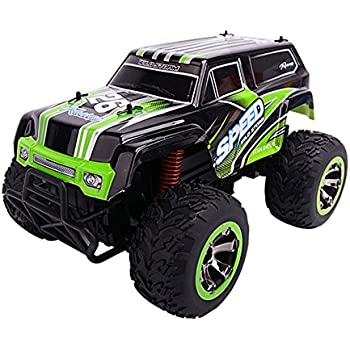 SZJJX RC Cars Rock Off-Road Waterproof Vehicle Crawler Truck 2.4Ghz 2WD High Speed 1:18 Radio Remote Control Racing Buggy Electric Fast Race Hobby