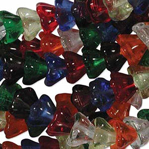 (Rainbow Mix 6x8mm Flower Cone 45 Bead Cap Czech Glass Beads)