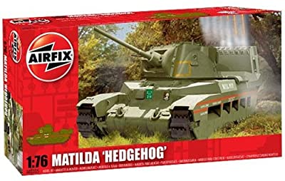 Airfix A02335 1:76 Scale Matilda Hedgehog Military Vehicles Classic Kit Series 2