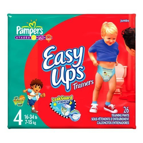 Pampers Easy Ups Diapers, Boy, Size 2T-3T, 26-Count (Easy Ups Trainers)