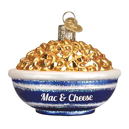 Old World Christmas Glass Blown Ornament with S-Hook and Gift Box, Food Collection (Bowl of Mac & Cheese) (When Was The First Christmas Tree Made)