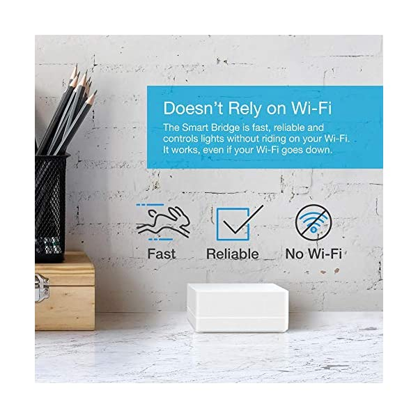 Lutron Caseta Wireless Smart Bridge | Works with Alexa, Apple HomeKit, and the Google Assistant | L-BDG2-WH | White 3
