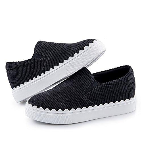 Casual Espesa rayas poner Otoño C zapatos Primavera De Y Un señora Pie calzado Suela zapatos qAfag4wU