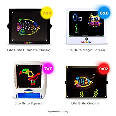 IllumiPeg Lite Brite Refills for Original Light Bright Toy - Blank Design Art Templates for Kids Creativity & Learning (10 Sheets): Toys & Games