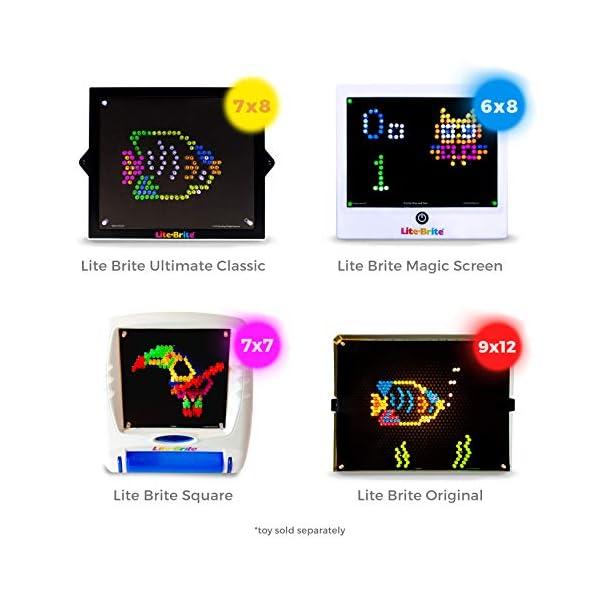 IllumiPeg Little Miss Refill templates for Basic Fun Lite Brite Magic Screen Retro Style (12 Sheets, 6x8) 4