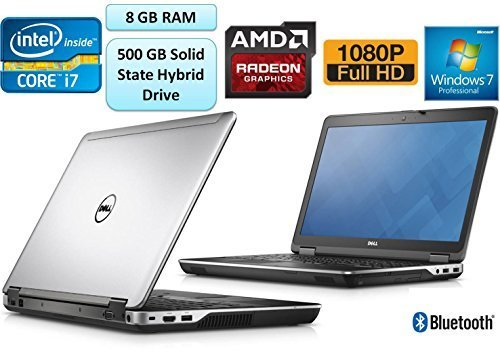 Dell Latitude E6440 Business Laptop 14 Inch Full HD 1080p i7-4610M 8GB RAM 500 GB Solid State Hybrid Drive AMD Radeon HD 8690M Graphics 2GB DVDRW Wifi+BT Windows 7 Professional 3 Yr Warranty (Dell 6440 I7)
