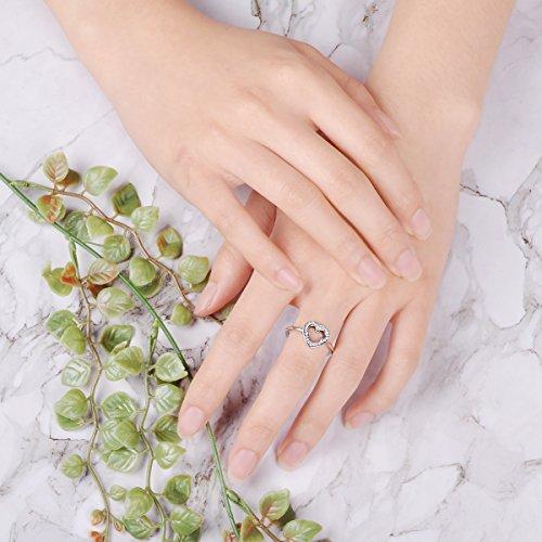 Twenty Plus Disney Mickey Silhouette Finger Ring With Clear CZ Jewelry Gifts For Girls & Women by Twenty Plus (Image #2)