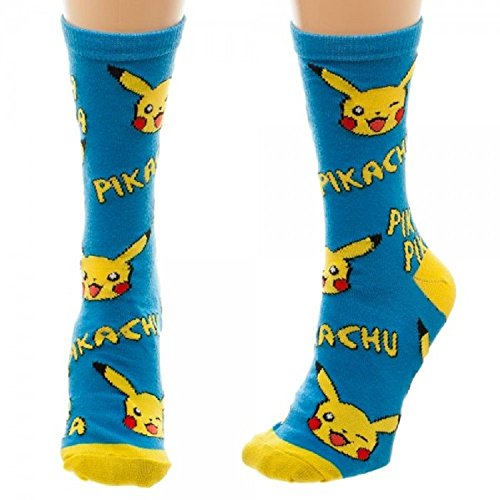 Nintendo-Pokemon-Pikachu-Juniors-Crew-Socks