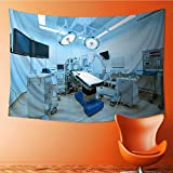SOCOMIMI Wall Tapestry Flower Tapestry Floral Words Tapestry Wall Hanging equipment and medical devices in modern operating room take with art Tapestry Wall Decor Quote Tapestry(90.5W x 59L INCH)