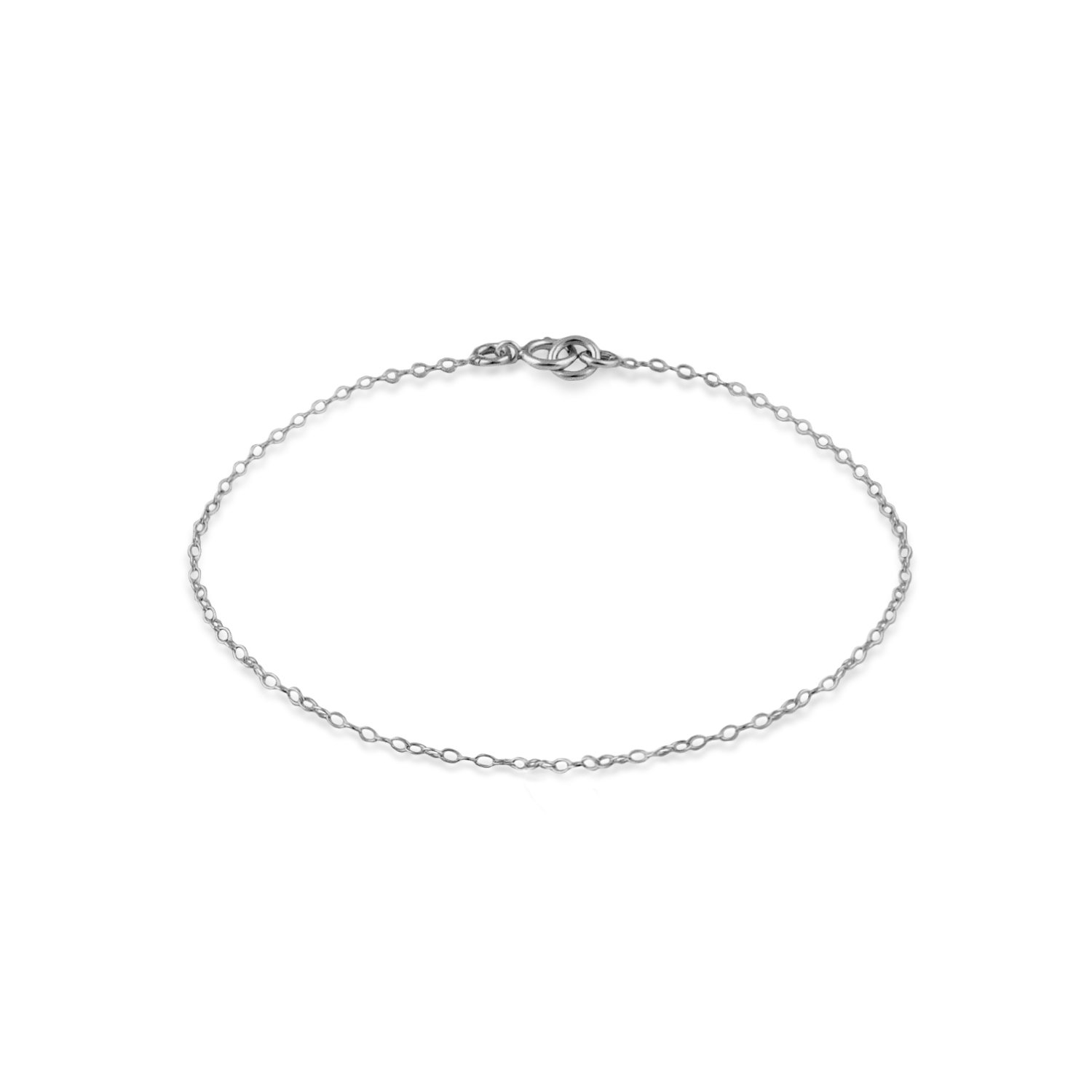 Nostrand Sterling Silver 1mm Chain Anklet (10.5)