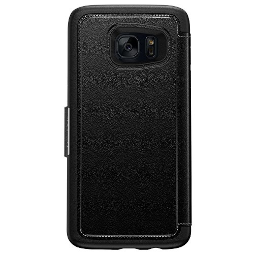 OtterBox STRADA SERIES Leather Wallet Case for Samsung Galaxy S7 Edge - PHANTOM (BLACK/BLACK LEATHER) by OtterBox (Image #3)