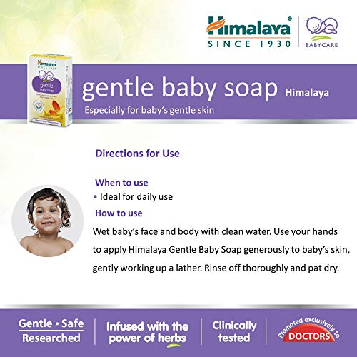 Himalaya Gentle Baby Soap Value Pack, 4 * 75g