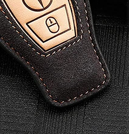 Adatto per Mercedes Benz C200 E300 GLC GLA Nuovi Accessori alla Moda Marrone Portachiavi per Telecomando Auto B Style Two Key NIUHURU